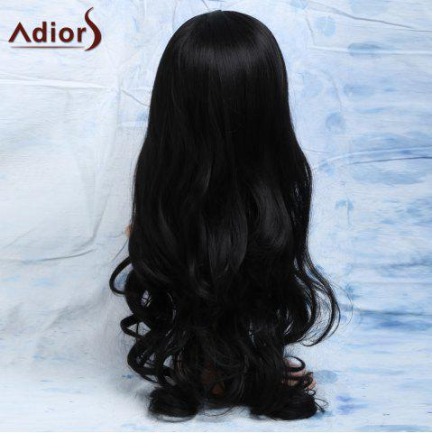 Elegant Natural Look Black Long Heat-Resistant Synthetic Wig For Women от Rosegal.com INT