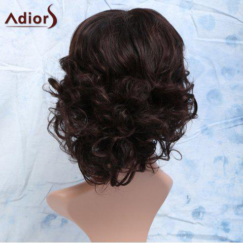 Chic Curly Full Bang Short Heat Resistant Synthetic Men's Wig - DARK BROWN  Mobile