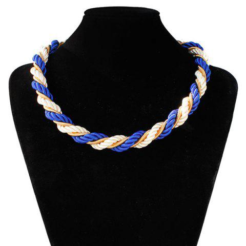 Shop Braided Rope Chain Necklace BLUE