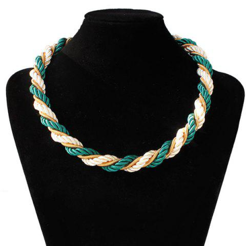 Cheap Braided Rope Chain Necklace