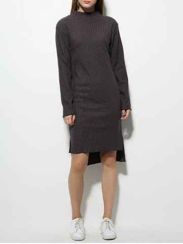 Long Sleeve High Neck Fitted Jumper Dress