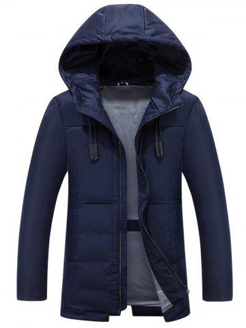 Outfits Hooded Drawstring Design Zip Up Down Jacket