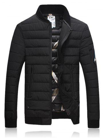 Outfit Stand Collar Thicken Zip Up Down Jacket