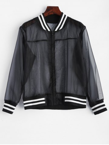 Latest Mesh Sheer Baseball Jacket
