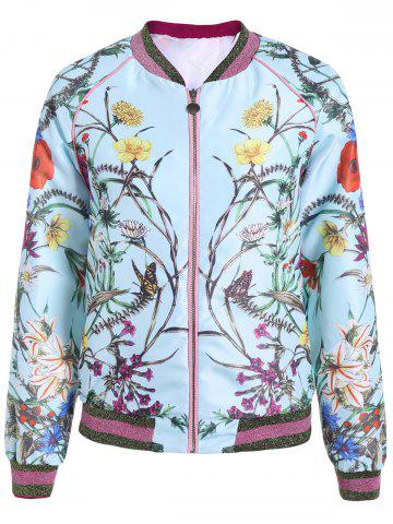 Cheap Floral Printed Bomber Jacket