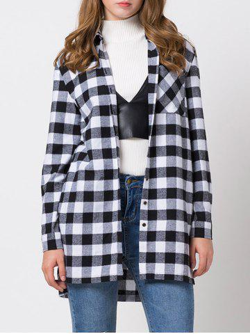 Unique Loose Fit Long Sleeve Checkered Shirt