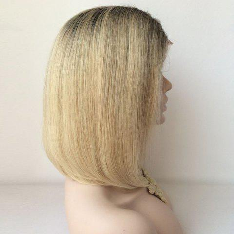 Buy Black Ombre Blonde Lace Front Bob Hairstyle Human Hair Wig - COLORMIX  Mobile
