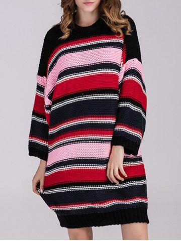 Outfit Long Sleeve Striped Knit Dress