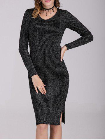 Fancy Fitted Long Sleeves Knit Dress
