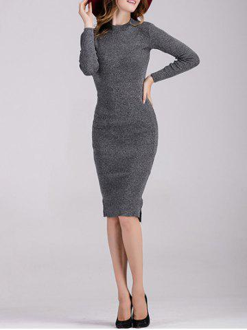 Discount Long Sleeve Fitted Midi Jumper Dress