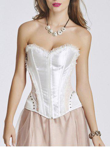 Chic Lace Insert Steel Boned Corset
