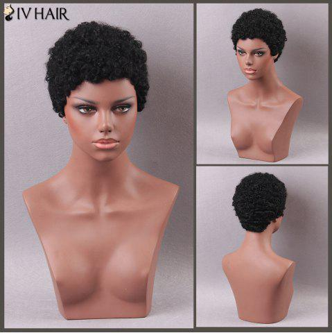 Buy Siv Hair Short Curly Human Hair Wig JET BLACK 01#