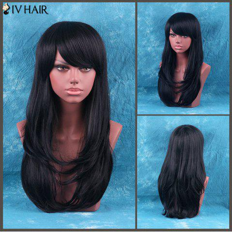 Unique Siv Hair Long Side Bang Layered Tail Adduction Human Hair Wig