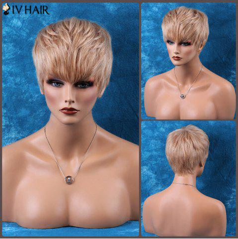 Shops Siv Hair Pixie Cut Short Neat Bang Straight Human Hair Wig