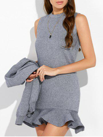 Shop Knitted Cardigan and Crewneck Sweater Dress