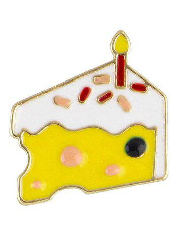 Chic Cake Brooch - YELLOW  Mobile