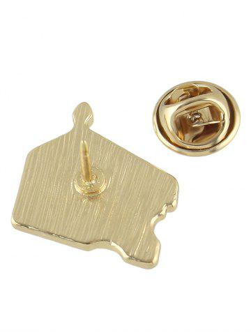 Outfits Cake Brooch - YELLOW  Mobile