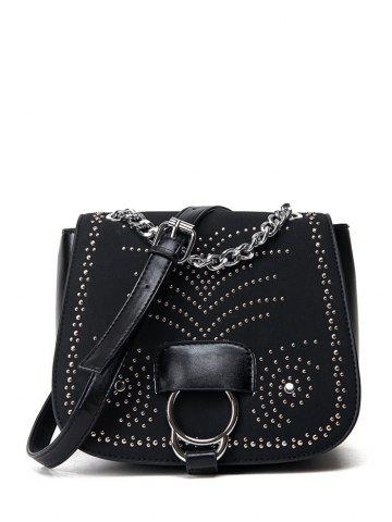 New Covered Closure Chain Metal Crossbody Bag