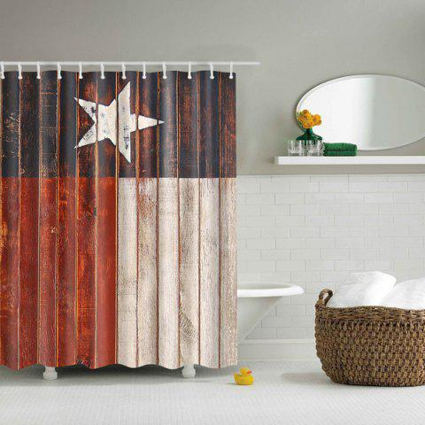 Online Color Block Star Waterproof Polyester Shower Curtain