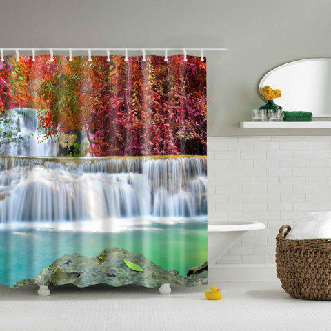 Outfit Waterfall Scenery Waterproof Polyester Cartoon Shower Curtain