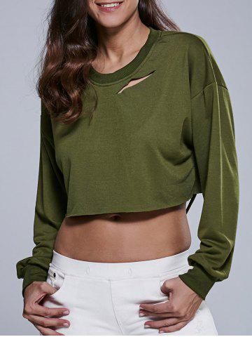 Outfits Destroyed Cropped Sweatshirt