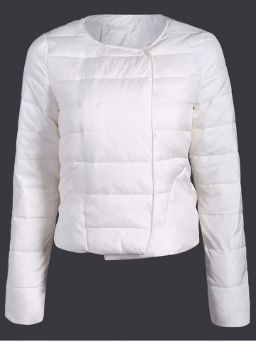 Shop Double Pocket Short Slim Quilted Jacket