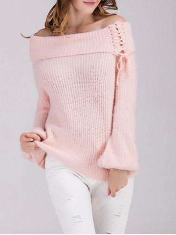 Chic Off The Shoulder Puff Sleeve Sweater