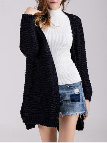 Cheap Chunky Knit Open Front Cardigan