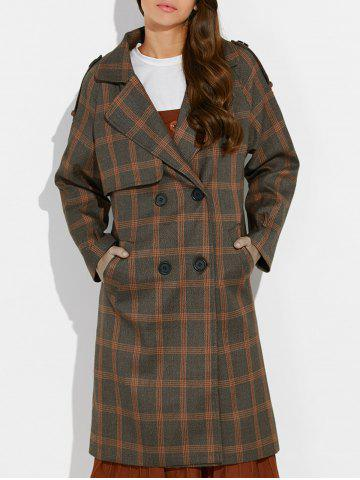 Hot Plaid Vintage Pea Coat