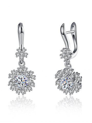 Affordable S925 Diamond Snowflake Earrings