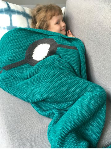 Outfit Winter Thicken Knitted Wrap Sofa Mermaid Blanket - GREEN  Mobile