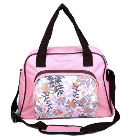 Chic Nylon Printed Diaper Bag PINK