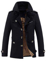 Collier Turn-Manteau Epaulet Agrémentée single-breasted Fleece -