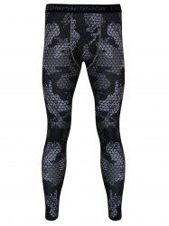 Plaid Printed Skintight Quick-Dry Gym Pants