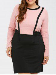Color Block Panel Bowknot Bodycon Dress