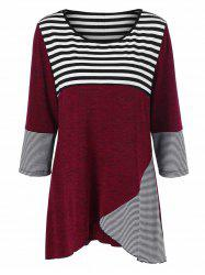Plus Size Striped Tunic T-Shirt - STRIPE