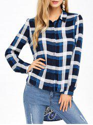 Plaid and Paisley High Low Shirt -