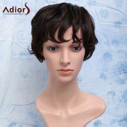 Short Curly Heat Resistant Synthetic Side Bang Men's Wig