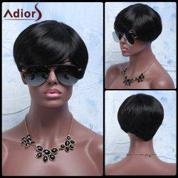 Synthetic Fluffy Full Bang Short Layered Cut Wigs For Women