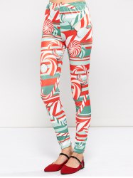 Christmas Lollipops Print Tight Leggings