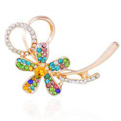 Rhinestone Hollowed Flower Brooch