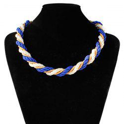 Braided Rope Chain Necklace - BLUE