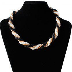 Braided Rope Chain Necklace -