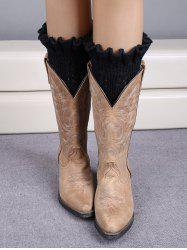 Winter Laciness Knit Boot Cuffs -