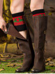 Christmas Deer Jacquard Boot Cuffs
