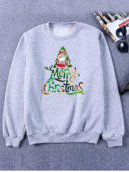 Printed Crew Neck Christmas Sweatshirt