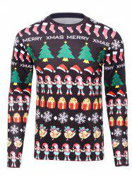3D Christmas Cartoon Print Flocking Graphic Sweatshirts -