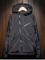 Hooded Plus Size Thicken Zipper Design Jacket