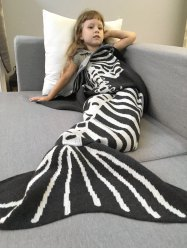 Super Soft Knitted Fishbone Kids Wrap Halloween Mermaid Blanket and Throws -