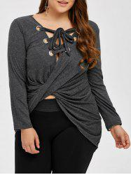 High Low Lace Up Tee